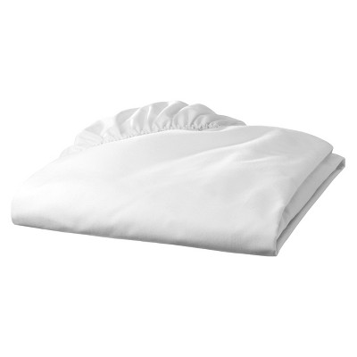 TL Care 100% Cotton Percale Fitted Crib Sheet - White