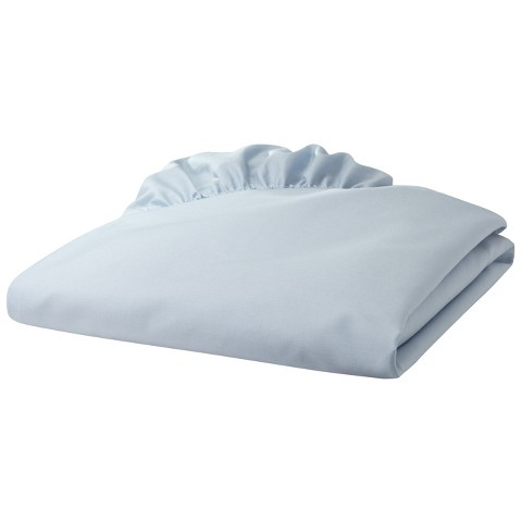 Percale Cotton Fitted Crib Sheet Solid