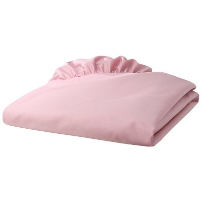 TL Care 100% Cotton Percale Fitted Crib Sheet - Pink