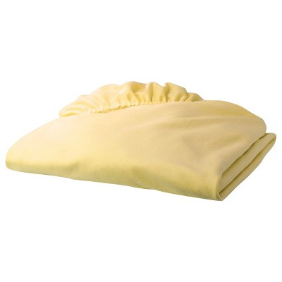TL Care Jersey Knit Fitted Crib Sheet - Maize