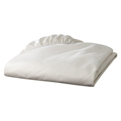 TL Care 100% Cotton Percale Fitted Crib Sheet - Ecru