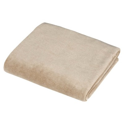 TL Care Organic Velour Fitted Crib Sheet - Mocha