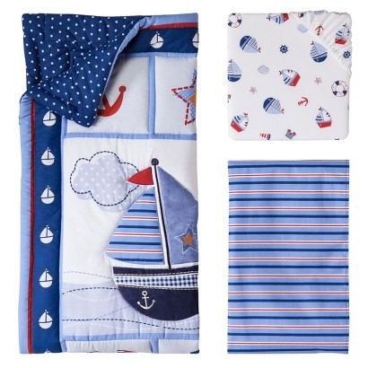 Lambs and Ivy Sail Away 3 Pc Bedding Set