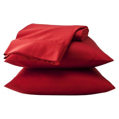 K SHEET SET  ORG COTTON SALSA RED