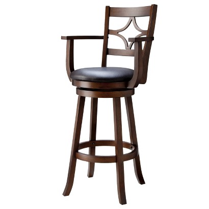 "29"" Emerson Diamond Back Swivel Bar Stool - Espresso"