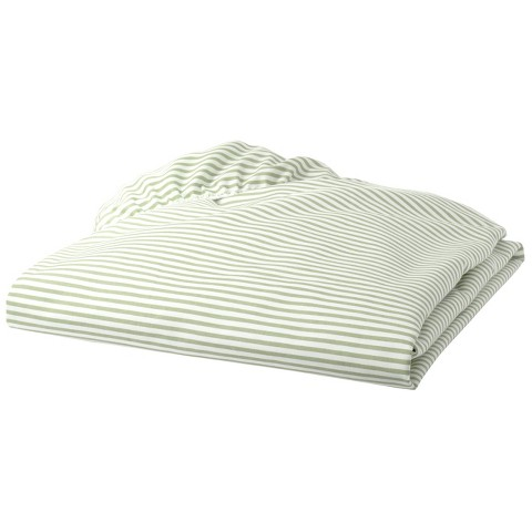 Percal Cotton Stripe Fitted Crib Sheet