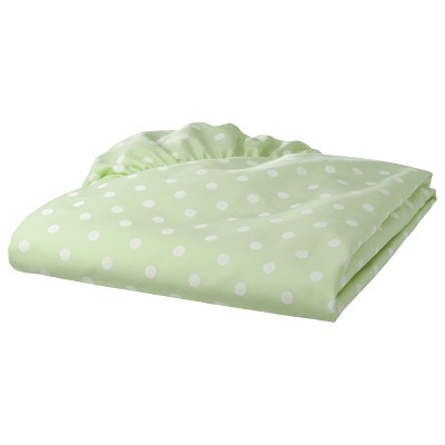 TL Care 100% Cotton Percale Fitted Crib Sheet - Green Dot