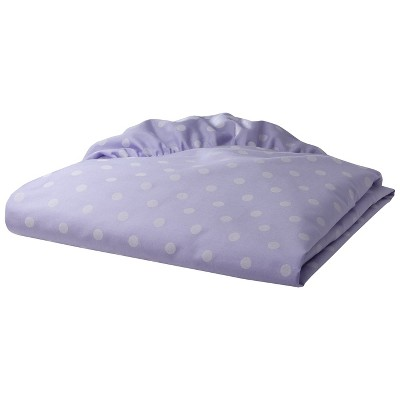 TL Care 100% Cotton Percale Fitted Crib Sheet - Lavender Dot