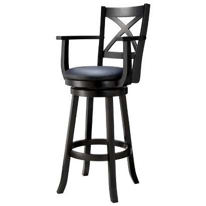 "Emerson X-Back Swivel 30.39"" Barstool - Black"