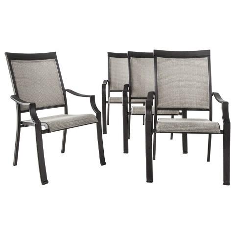 threshold harriet 4 sling patio chair set target