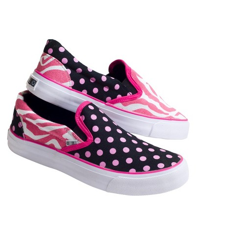 Girl's Xolo Shoes Zany Slip On - Zebra Multicolor