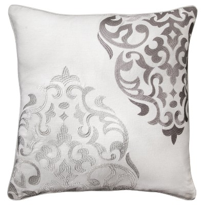 """Mudhut™ Hope Embroidered Medallion Pillow - 20x20"""""""