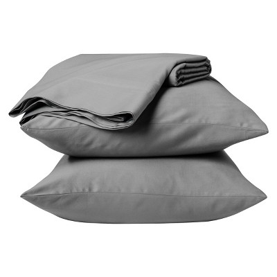 Threshold™ 300 Thread Count Organic Cotton Sheet Set - Gray (Queen)