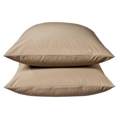 Threshold Ultra Soft 300 Thread Count Pillowcase - Tan (Standard)