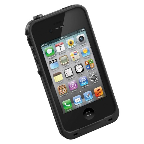 LifeProof Cell Phone Case for iPhone4/4S - Black (1001-01)