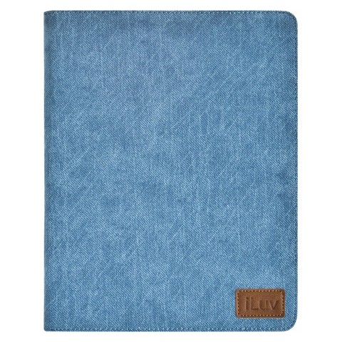 iLuv Great Jeans Portfolio Case with Enhanced Viewing Angles for Apple iPad 3rd Generation and iPad 2 -