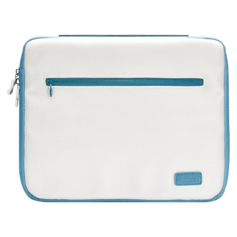 iLuv Roller Soft Padded Sleeve for iPad 3 - White/Blue (iCC835WBLU)
