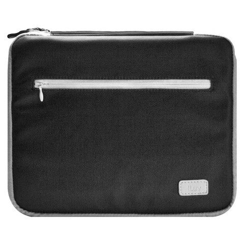 iLuv Roller Soft Padded Sleeve for iPad 3rd Generation - Black/Gray (iCC835BGRY)