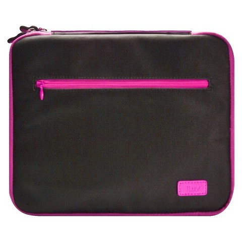iLuv Roller Soft Padded Sleeve for iPad 3rd Generation - Black/Pink (iCC835BPNK)