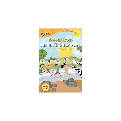 Second Grade Fun with Numbers (Sylvan Fun on the Run Series) by Sylvan Learning (Paperback)
