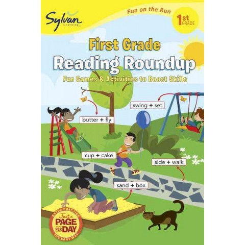 First Grade Reading Roundup (Sylvan Fun on the Run Series) by Sylvan Learning (Paperback)