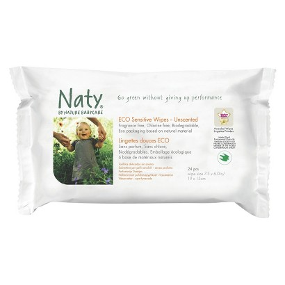 Nature Babycare Eco Sensitive Baby Wipes 24 Count Travel Pack (10 Pack 240 Count)