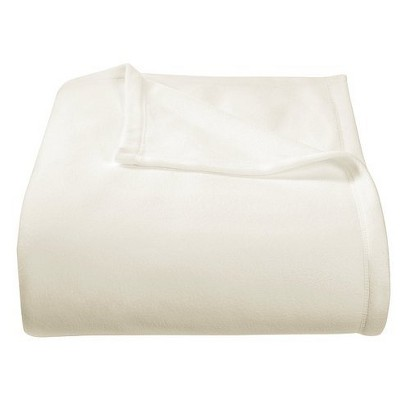 Threshold Microplush Blanket - Ivory (Full/Queen)