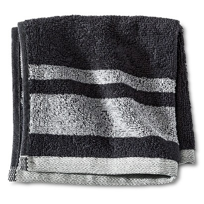 ROOM ESSENTIALS® STRIPE WASHCLOTH - GRAY