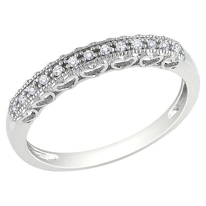 .08 Ct Diamond Ring 10k White Gold - White/Silver