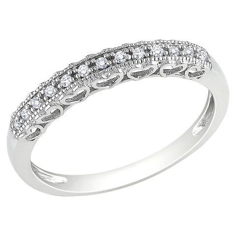 .08 CT. T.W.  Diamond Ring 10k White Gold - White Silver