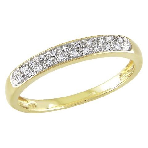 1/10 Ct Diamond Ring 10k Yellow Gold - Yellow