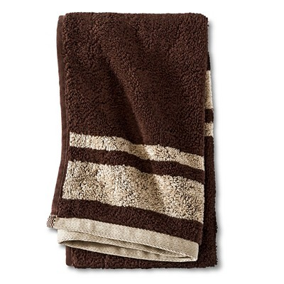 Fast Dry Stripe Hand Towel Brown - Room Essentials™