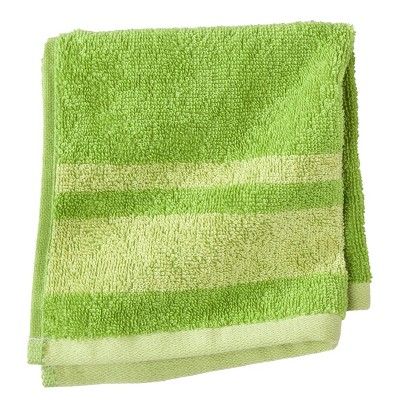 WASHCLOTH RE GREEN STRIPE