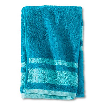 Fast Dry Stripe Hand Towel Turquoise - Room Essentials™