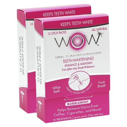 WOW Oral Cleansing Powder - Bubblemint - 20ct