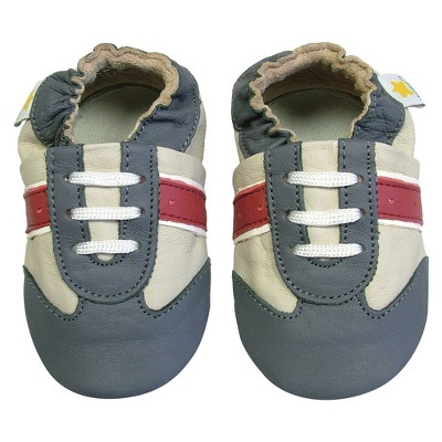 Ministar Infant Boys' Sport Shoe - Beige/Grey/Red Large