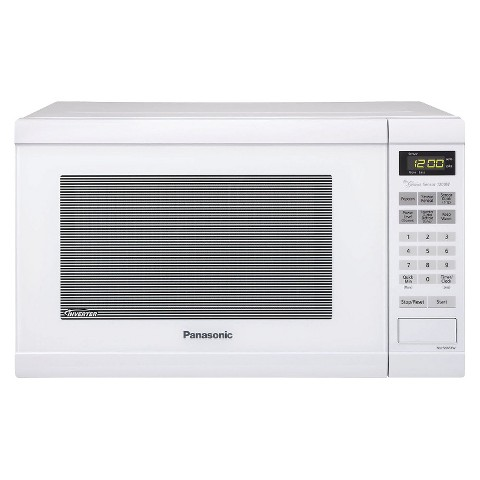 Panasonic 1.2 Cu.Ft. White Counter Microwave Oven, NN-SN651W