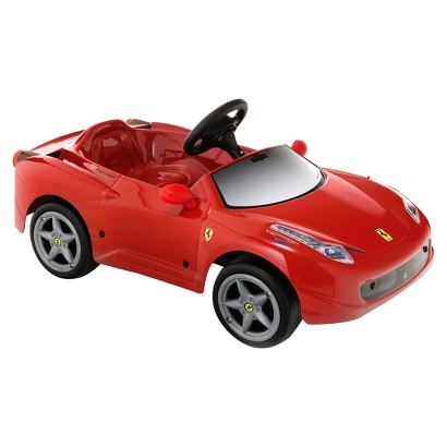 tt toys ferrari 458 6 volt ride on car red reg. Black Bedroom Furniture Sets. Home Design Ideas