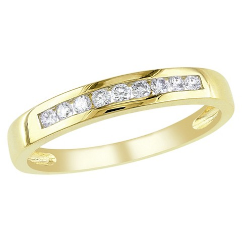 1/5 Ct Diamond Et Ring 10k Yellow Gold - Yellow/White