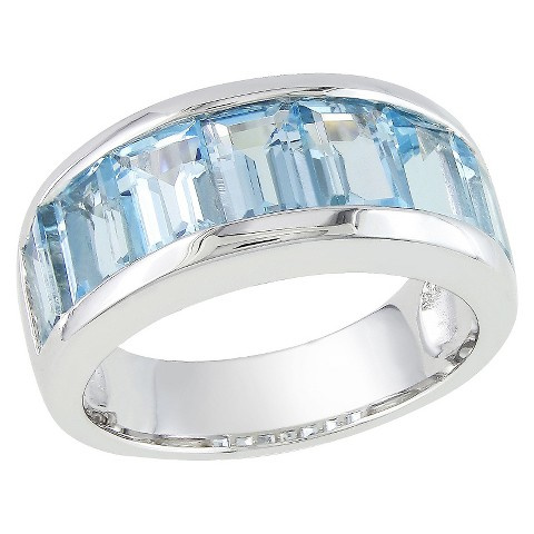 5 1/4 CT. T.W. Blue Topaz Ring in Sterling Silver