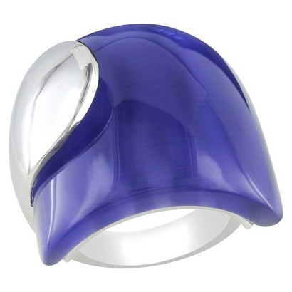 35 CT. T.W. Synthetic Blue Cat Eye Ring in Sterling Silver