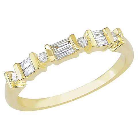 1/5 Ct Par Bag Diamond Ring 10k Yellow Gold - Yellow