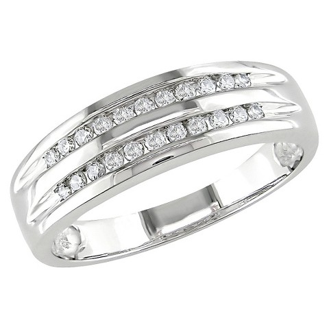 1/6 Ct Diamond Fashion Ring 10k White Gold - White
