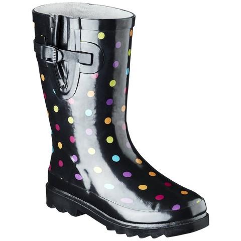 Western Chief Girl's Molly Rain Boot - Black