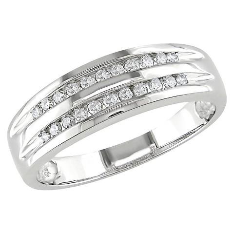 1/6 Ct Diamond Fashion Ring 10k White Gold - White
