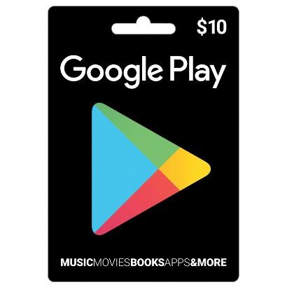 Google Play $10 Gift Card