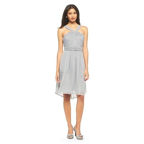 Women's Halter Neck Chiffon Bridesmaid Dress  Neutral Colors - TEVOLIO&#153