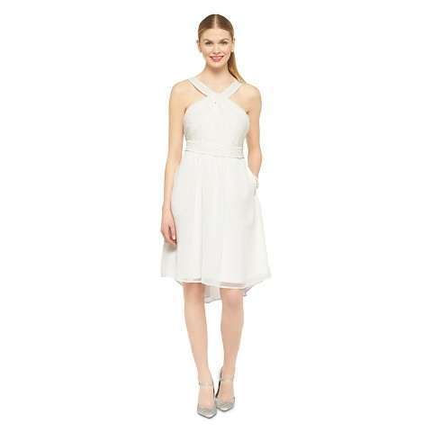 Women's Halter Neck Chiffon Bridesmaid Dress(Limited Availability) - TEVOLIO
