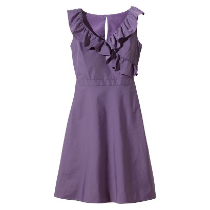 TEVOLIO™  Women's Taffeta V-Neck Ruffle Dress - Assorted Colors