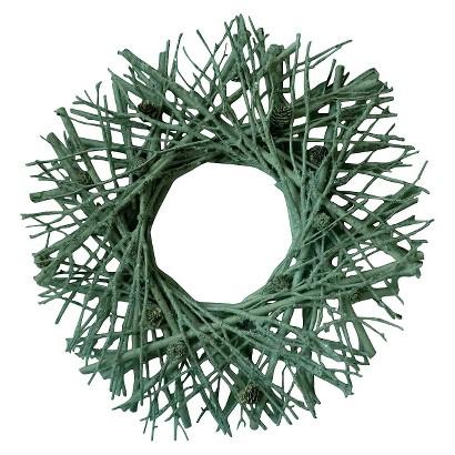 """Smith & Hawken® Twig & Pinecone Wreath 21"""""""